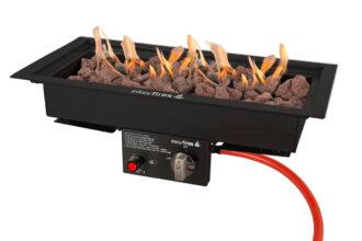 Easyfires Inbouwbrander Zwart 50×25 Cm